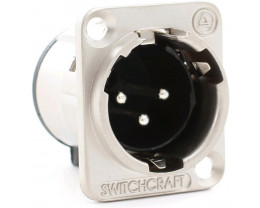 SWITCHCRAFT E3MSC CONN. XLRM PANEL MOUNT SOCKET