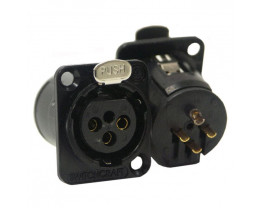 SWITCHCRAFT E3FSCBAU CONN. XLRF PANEL MOUNT SOCKET